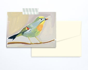 Bird illustration greeting card blank card