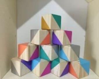 Mini Blocks - Mixed Colour - Set of 16