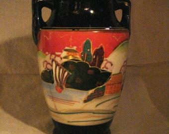 Vintage Moriage Vase Landscape