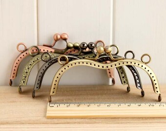High Quarlity Retro Vintage M Shape Kisslock Frame w/ Rings for Bag Purse, 11.5 cm/ 4.5 inch, 1 PCS