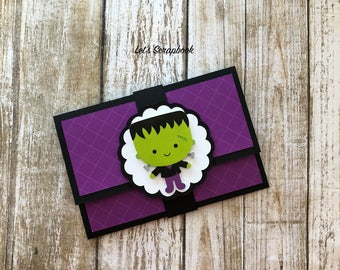Halloween Gift Card Holder, Birthday Gift Card Holder, Gift Card Holder, Handmade Gift Card Holder, Birthday Gift, Card Holder, Money Holder