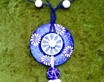 Artistically Hand Painted Pendant Necklace
