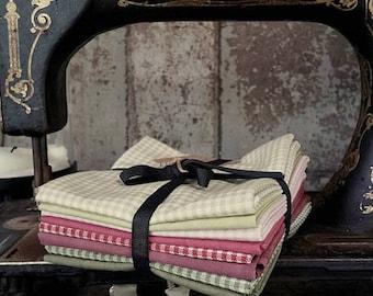 Fabric: Bundle FQ 8pc - Gingham & Solids