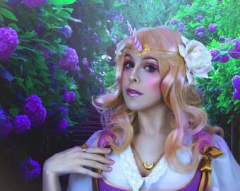 Golden & pink tiara - Unicorn horn