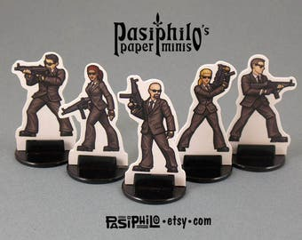 Secret Service Agents 28mm Role-playing Game Miniatures