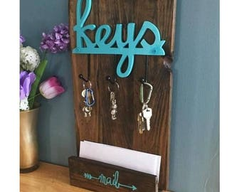 Key and Mail Organizer / Entryway Organizer / Mail Organizer /  mail center / key holder / Wall Or Table