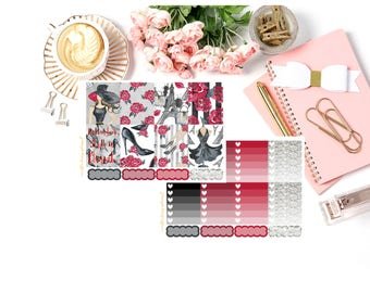 Eternal Fashion Girl Happy Planner and Erin Condren Planner Stickers Deluxe Kit