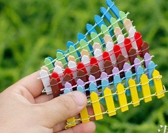 Lot 8pcs Miniature Fairy Garden fences DIY kit landscape Moss Terrarium art craft supply