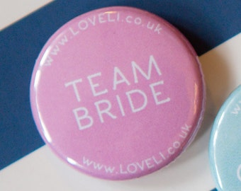 Wedding Badges - Team Bride Badge - Hen Party Badges