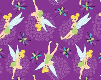 Tink on Purple Cotton Woven, Springs Creative
