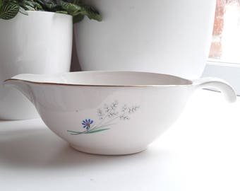 French vintage gravy boat opaque porcelain Sarreguemines - Digoin 60's / french vintage china from DIGOIN Sarreguemines sauceboat 1960's