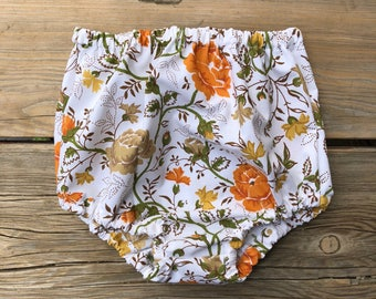 Baby girl clothes vintage bloomers high waist girls fashion outfit kids clothes new baby newborn vintage floral boho bohemian 0-3 6m 12m 18m