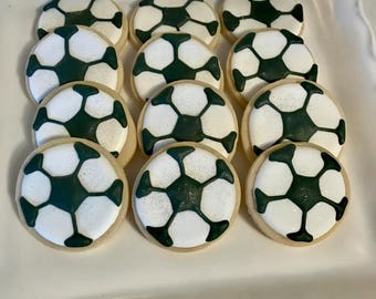 Soccer Ball Cookies - World Cup - FIFA - Sports Cookies - School Cookies - Mascot Cookies - Sports Birthday - Cookie Favors - Professional