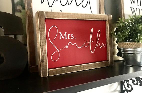 Teacher Appreciation Day Sign | Personalized Teacher Name Sign | Custom Teacher Sign | Farmhouse Sign | Teacher Gift | Fixer Upper