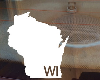 Wisconsin Car Decal, State Decal, Wisconsin Decal, Laptop Decal, Laptop Sticker, Car Sticker, Car Decal, Vinyl Decal, WI, Window Decal, Home