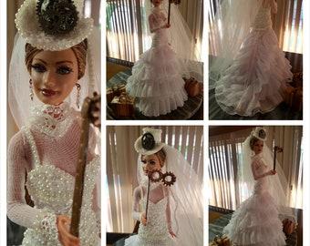 OOAK Doll Steampunk Bride Traveller in Time by AnitaHealyDolls©