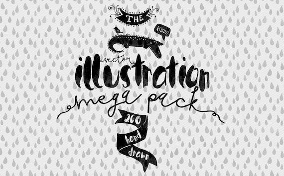 vector illustrations mega pack hand drawn clip art adobe