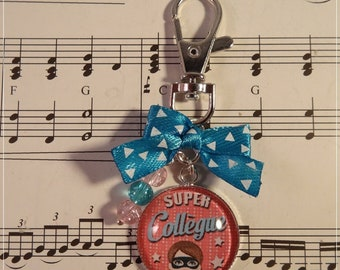 Keyring / bag charm for a great coworker