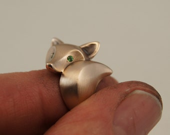 fox ring. Bronze , pick your eye color