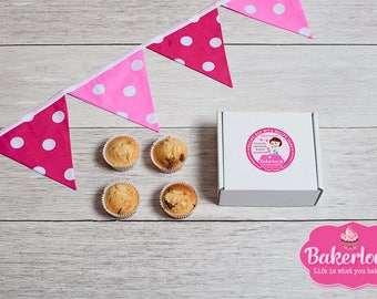 Cherry & Almond Muffin Baking Kit  - Make Your Own Bakewell Inspired Muffins - Bake at Home - Baking Gift - Gift for Bakers - UK - DIY