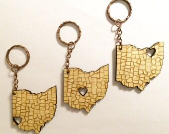 Ohio Love Series Keychain