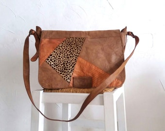 Patchwork Leather Bag.