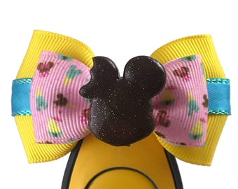 """Park Snacks Magic Band Bow or Apple Watch Bow, 2"""" Mini Hair Bow, Planner Clip Bow - Park Snacks Collection"""