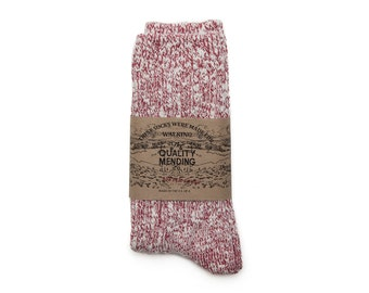 Quality Mending Co. Rag Socks - Red