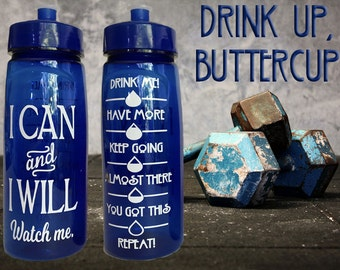 NEW! Motivational Water Bottle with Tracker Graphic! 24oz BPA-Free & Made in the USA! Yoga Workout Gym Gift!
