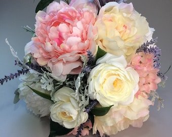 WEDDING BOUQUETS, Peony bouquet, Pink wedding bouquets, Silk wedding bouquets, Silk bridal bouquet, Bridal bouquet, Hydrangea bouquet,