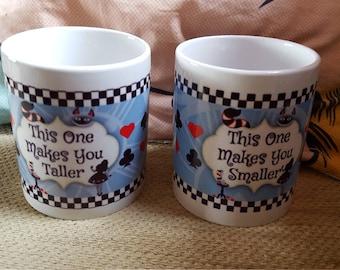 Alice inspired set of 2 mugs