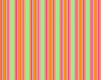 """10 sheets of Awning Stripe Wrapping Paper, 19x27"""",  in bright colors using vegetable inks on recycled paper 1.50 a sheet"""