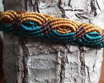 Bracelet wrist macrame 3 colors for men or women