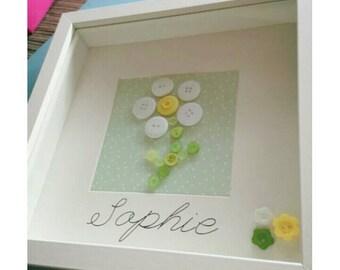 Handmade Personalised Children's Embellished Frame