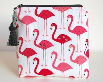 Flamingos Makeup Bag Jewelry Organizer