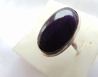 "Ring in silver with sugilite ""Dream"". The price is 78.00 dollars."