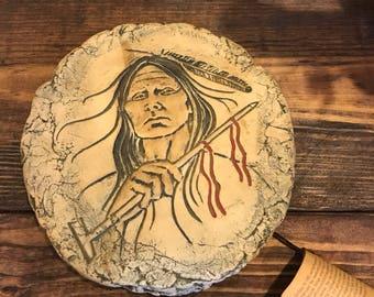 Vintage Mount St Helens Ash Clay art. Signed.