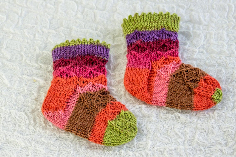 KNITTING PATTERN, Baby Sock Pattern, Baby Girl Sock Pattern, Knitted ...