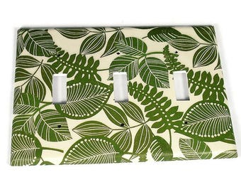 Triple Toggle Switch Plate Light Switch Cover  in Rainforest   (206T)