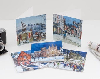 Winchester Winter Card Selection (Pack of 10 - Blank Inside)