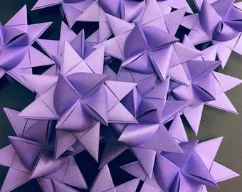 13 Medium Purple German Paper Stars Quick Order Ready to Ship Moravian Stars Star Ornaments