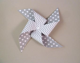 Set of 10 pinwheels small size 7 cm