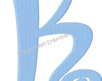 Boingo Machine Embroidery Monogram Font Set 5 inch