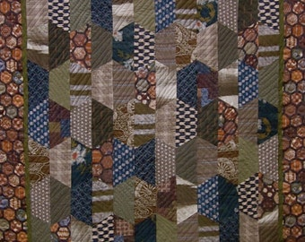 Patchwork Quilt - Japanese Hexcentric throw
