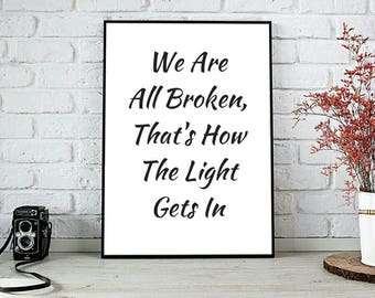 We Are All Broken