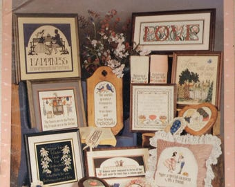 Love and Friendship, Counted Cross Stitch Patterns by Cross Your Heart, 1988, Needlecraft, Needlework