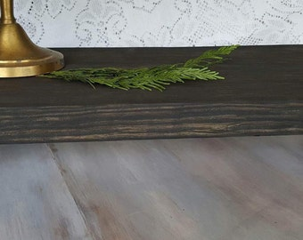 Wooden Tray with a Rustic Black Wash