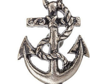 Nautical Pewter Anchor Metal Knob  for Cabinet Doors Dresser Vanity Drawers 1313691
