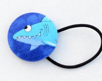 Shark Week Hair Button