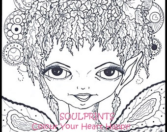 Coloring Pages Coloring Book Colouring Book Digital Download Fantasy Fairy Illustration Drawing Art Prints Adult Coloring Book Pages